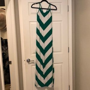 Gap Maxi Dress - green / white.  Size: M